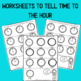 Telling Time to the Hour Power Point and Worksheets for K-1