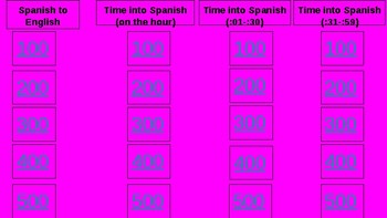 Time Jeopardy Game