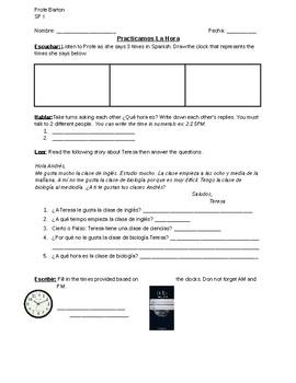 Time (La Hora) Practice Worksheet