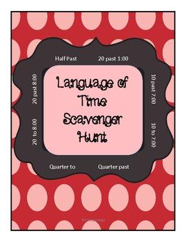 Time - Language of Time Scavenger Hunt