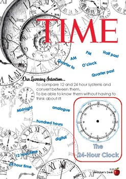 Time - Learning Intention Poster