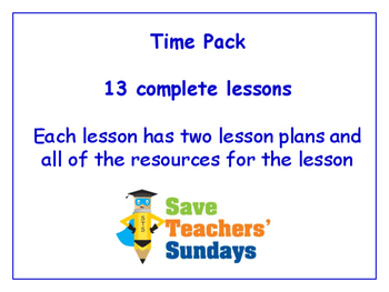 Time Lessons Bundle / Pack (13 Lessons for 1st to 2nd grade)