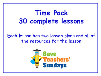 Time Lessons Bundle / Pack (30 Lessons for 2nd to 4th grade)