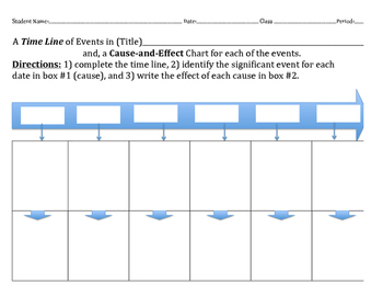 Time Line + Cause & Effect Boxes - 2 Benchmarks