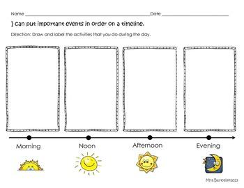Time Line Graphic Organizer