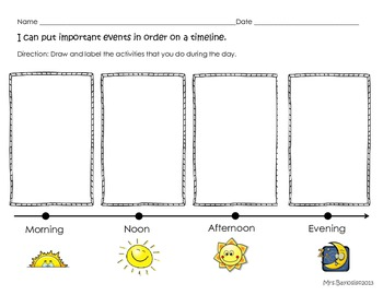 Time Line Graphic Organizer