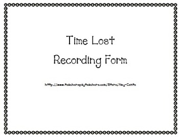 Time Lost Recording Form