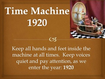 Time Machine: 1920 - Powerpoint Presentation