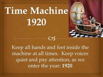 Time Machine: 1920 - Powerpoint Presentation