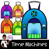 Time Machine Clip Art ~ FREEBIE!