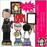 Time Machine clip art - Picasso - Mini - Melonheadz Clipart