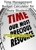 Time Management Budget Calculator for Busy Students