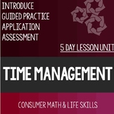 Time Management Bundle- High School Special Education