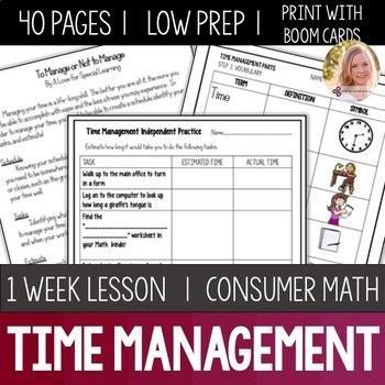 Time Management Bundle- High School Special Education
