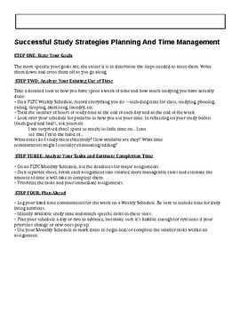 Time Management Lesson