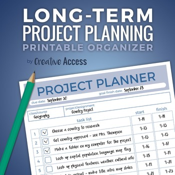 Time Management: Long-Term Project Planner [executive functioning lifesaver!]