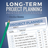 Time Management: Long-Term Project Planner [executive func