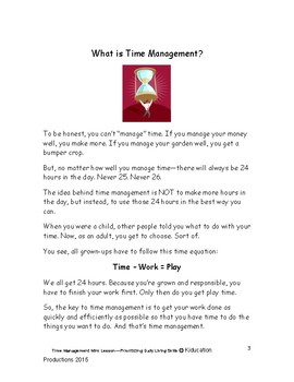 """Prioritizing""  Mini Lesson from Time Management Workbook"