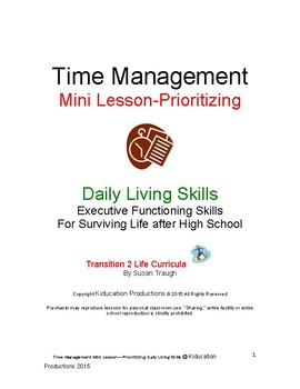 dls mini lesson prioritizing from time management workbook by