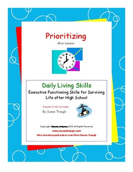 """""""Prioritizing""""  Mini Lesson from Time Management Workbook"""