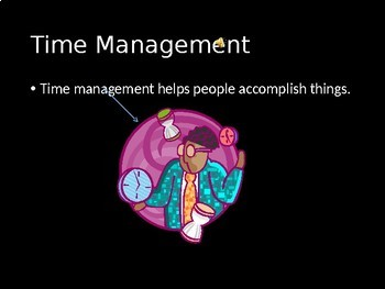 Time Management PowerPoint- High School Special Education