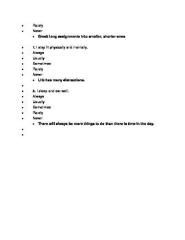 Time Management Quiz