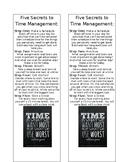 Time Management Reminder