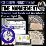 Time Management Scenario Task Cards and Worksheets - PDF a