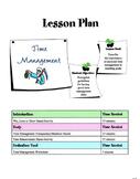 Time Management Skills Lesson