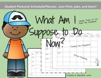 Calendar & Time Management: Student Planner and Weekly Calendar