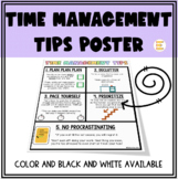 Time Management Tips POSTER (comes in 3 sizes)