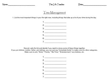 Time management worksheet by the sucos teachers pay teachers time management worksheet ibookread PDF