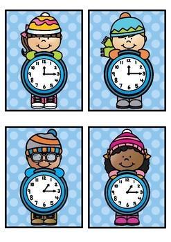 Time Match- Quarter Past Winter Theme