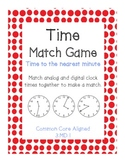 Time Match Memory Game (Common Core Aligned) 3.MD.1