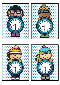 Time Match- O'clock & Half Past Winter Theme BUNDLE