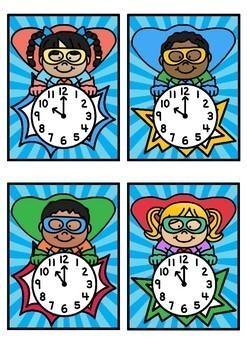 Time Match- O'clock Superhero Theme