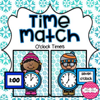 Time Match- O'clock Winter Theme