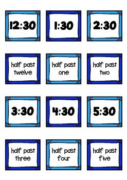 Time Match- Half Past Winter Theme