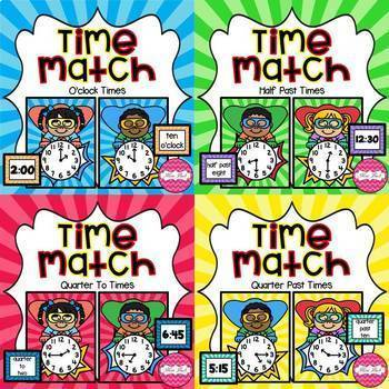 Time Match- Superhero Theme BUNDLE
