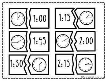 Time Match Up Math Game