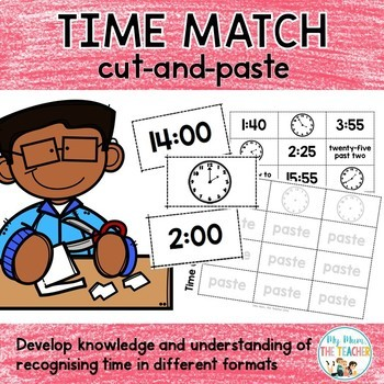 Time Match - cut and paste activity