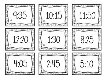 Time Matching Cards
