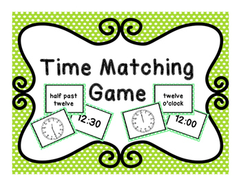 Time Matching Game!