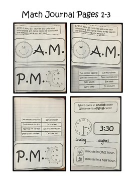 Telling Time Interactive Math Journal