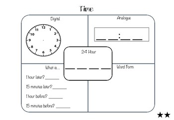 Time Math Mats