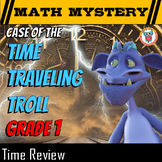 Time Math Mystery 1st Grade Worksheets Read & Write Time (O'Clock and Half Past)