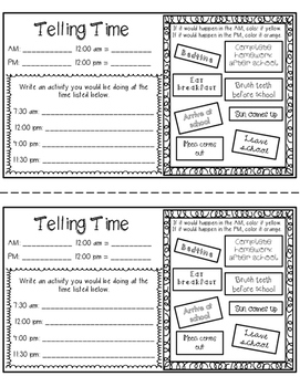 Time Math Notebook