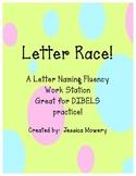 Time Me!  Letter Naming Fluency Station