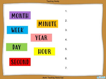 Time Measurement Teaching Resources