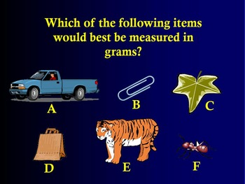 Time Measurement & Weight & Volume 3rd Grade Math Jeopardy ~ Promethean Game